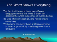 The Word Knows Everything