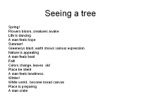 Seeing a tree