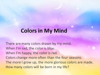 Colors in My Mind